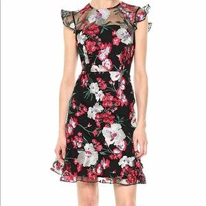 Donna Morgan Floral Embroidery Dress